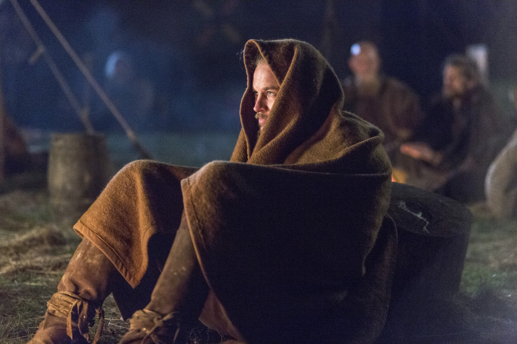Ragnar Lothbrok (Travis Fimmel) gets into the zone the night before a big battle